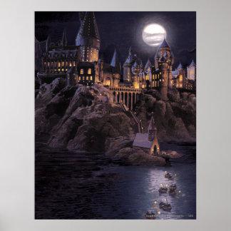 Lac castle   de Harry Potter grand à Hogwarts Poster