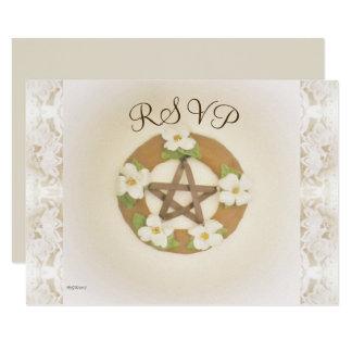 Lacey Hartriegel-Pentagramm Handfasting Karte