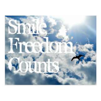 Lächeln, Freiheits-Zählungen Postkarte