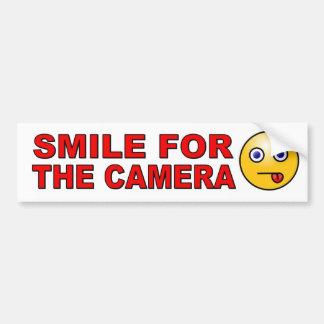 Lächeln für die Kamera mit dem Smiley lustig Autoaufkleber