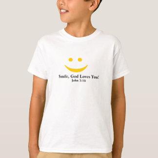 Lächeln-Gott-Lieben Sie T - Shirt