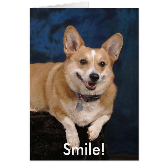Lächeln! Grußkarte