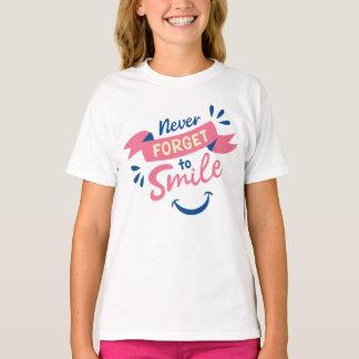 Lächeln-Haltungs-Dankbarkeits-motivierend T-Shirt