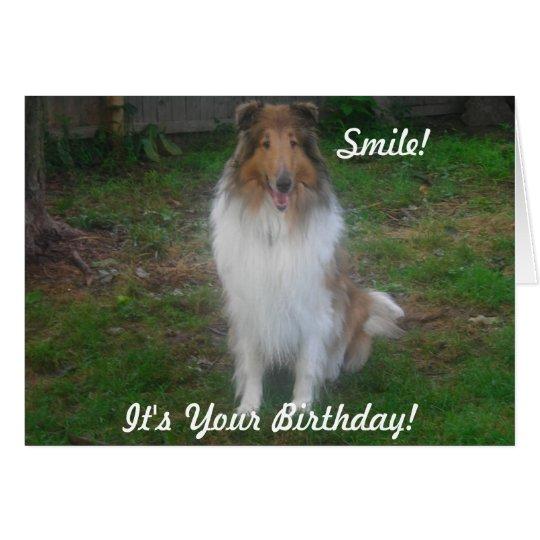 Lächeln! , Ist es Ihr Geburtstag! Grußkarte