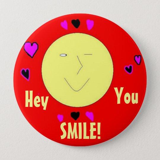 Lächeln-Knopf Runder Button 10,2 Cm