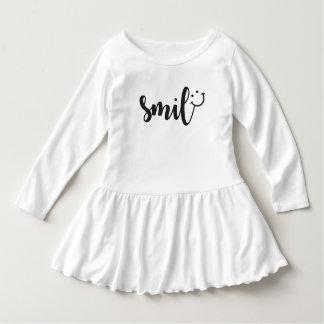 Lächeln-Panda-Kleinkind-Rüsche-Kleid Kleid