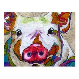 Lächeln Piggy Postkarte