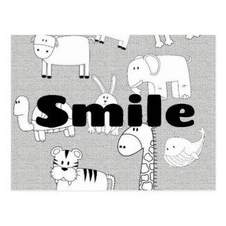 Lächeln Postkarte