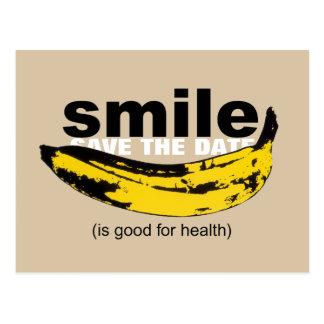 Lächeln-Save the Date 60. Geburtstags-Postkarte Postkarte