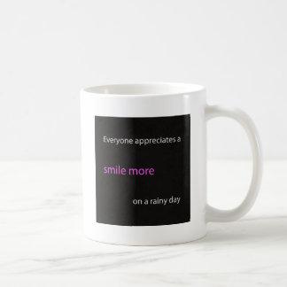 Lächeln Sie mehr Kaffeetasse