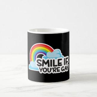 Lächeln Sie, wenn Sie homosexueller Stolz des Kaffeetasse