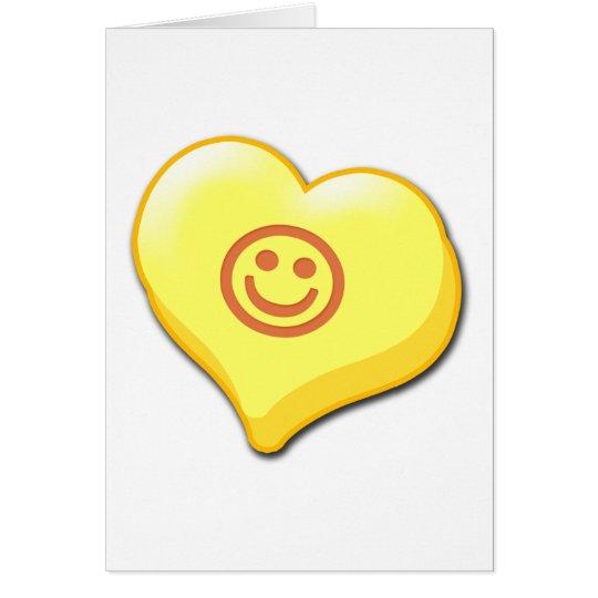 Lächeln-Süßigkeits-Herz Karte