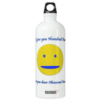Lächeln zum Leben Wasserflaschen