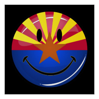 Lächelnde Arizona-Flagge Poster