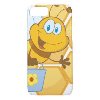 Lächelnde Biene halten einen Eimer iPhone 8/7 Hülle