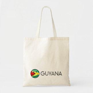 Lächelnde guyanische Flagge Tragetasche