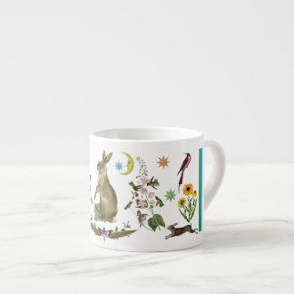 Lächelnde Kaninchen-Espresso-Schale Espressotasse