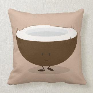 Lächelnde Kokosnuss Kissen