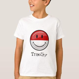 Lächelnde Monaco-Flagge T-Shirt