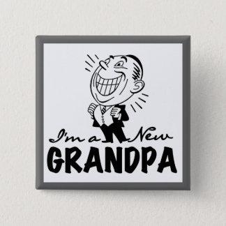 Lächelnde neue Großvater-T - Shirts und Geschenke Quadratischer Button 5,1 Cm
