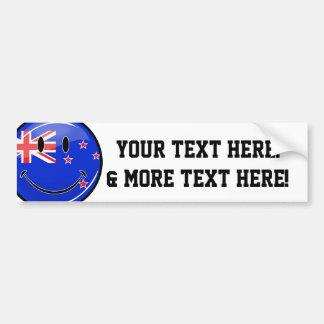 Lächelnde Neuseeland-Flagge Autoaufkleber
