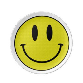 Lächelnde Platte Teller Aus Porzellan