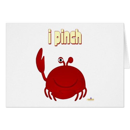 Lächelnde rote Krabbe klemme ich Grußkarte
