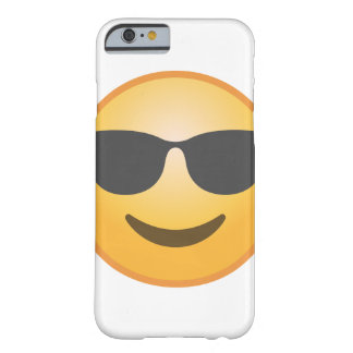 Lächelnde Sonnenbrille Emoji Barely There iPhone 6 Hülle