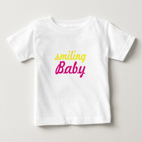 lächelnder Babytext Baby T-shirt
