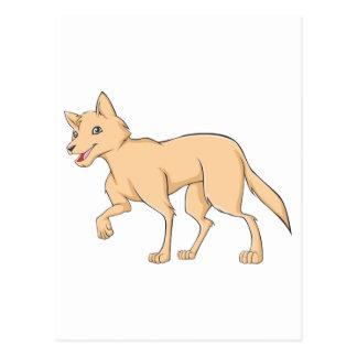 Lächelnder Dingo Postkarte