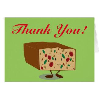 Lächelnder Fruchtkuchen danken Ihnen Karte