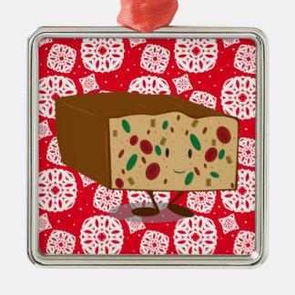 Lächelnder Fruchtkuchen Silbernes Ornament