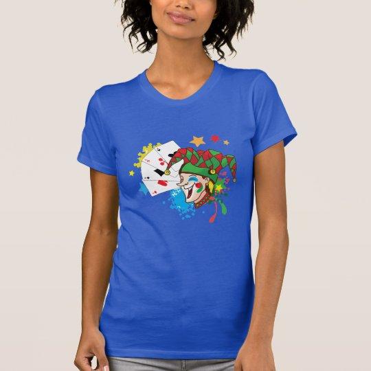 Lächelnder Joker mit Karten T-Shirt