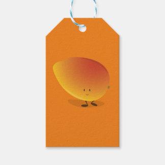 Lächelnder Mango-Charakter Geschenkanhänger