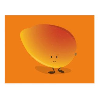 Lächelnder Mango-Charakter Postkarte