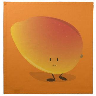 Lächelnder Mango-Charakter Serviette
