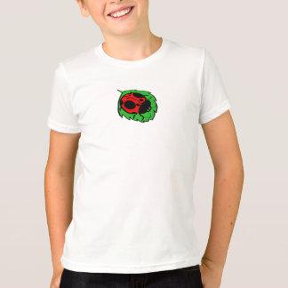 Lächelnder Marienkäfer auf dem grünen Blatt Mini - T-Shirt