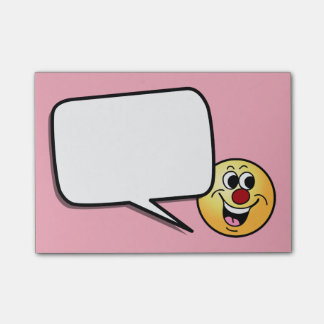 Lächelnder Smiley Grumpey Post-it Klebezettel