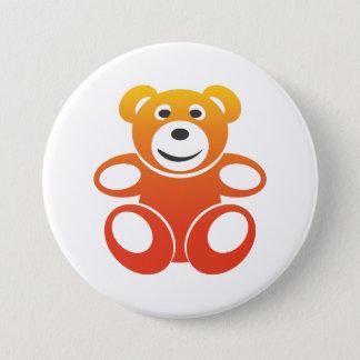 Lächelnder Sommer-Teddybär Runder Button 7,6 Cm