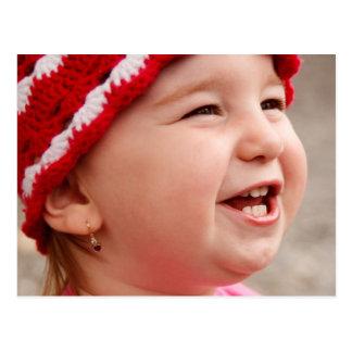 Lächelndes Baby Postkarte