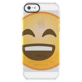 Lächelndes entlastetes Emoji Durchsichtige iPhone SE/5/5s Hülle