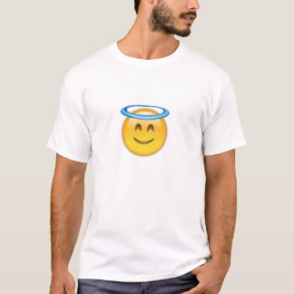 Lächelndes Gesicht mit Halo Emoji T-Shirt