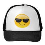 Lächelndes Gesicht mit Sonnenbrillen cooles Emoji Retrokultcap