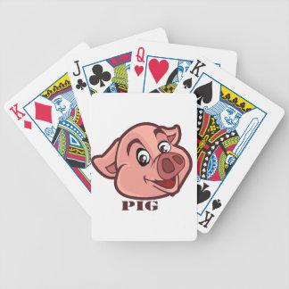 Lächelndes glückliches Schwein-Gesicht Bicycle Spielkarten