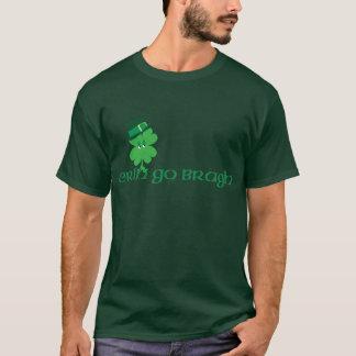 Lächelndes Kleeblatt im Hut T-Shirt
