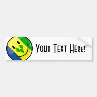 Lächelndes St. Vincent und Grenadinen-Flagge Autoaufkleber