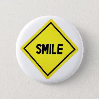 LächelnVerkehrsschild Runder Button 5,1 Cm