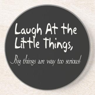 Lachen an den kleinen Sachen, motivierend Untersetzer