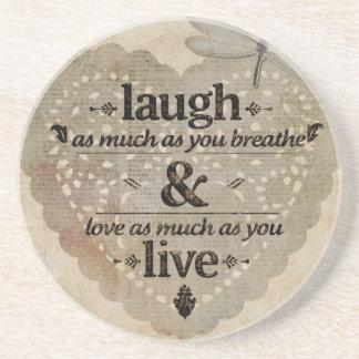 Lachen, Liebe, Live Getränkeuntersetzer