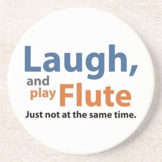Lachen und Spiel-Flöte Sandstein Untersetzer
